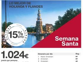 LO MEJOR DE HOLANDA Y FLANDES - SEMANA SANTA